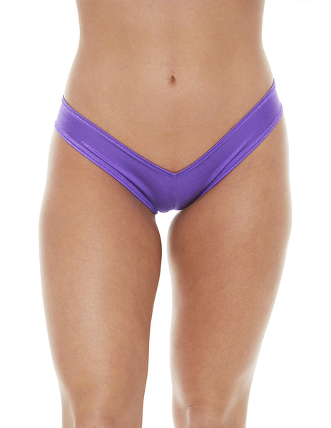 Bodyshotz Scrunch Back Boyshort Purple front