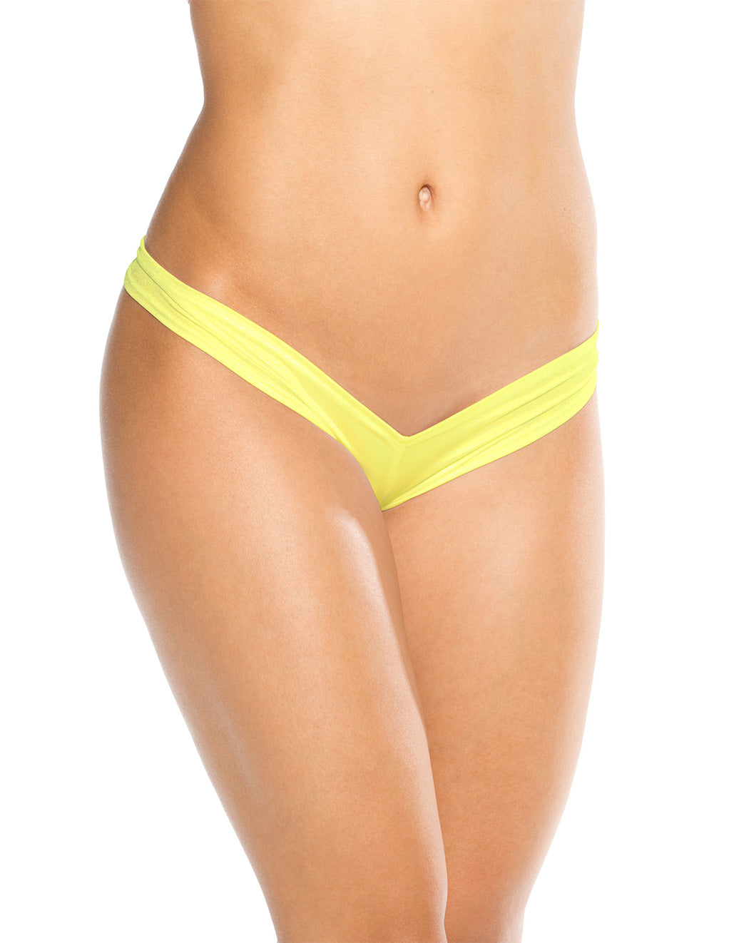 Bodyshotz Scrunch Back Boyshort Neon Yellow
