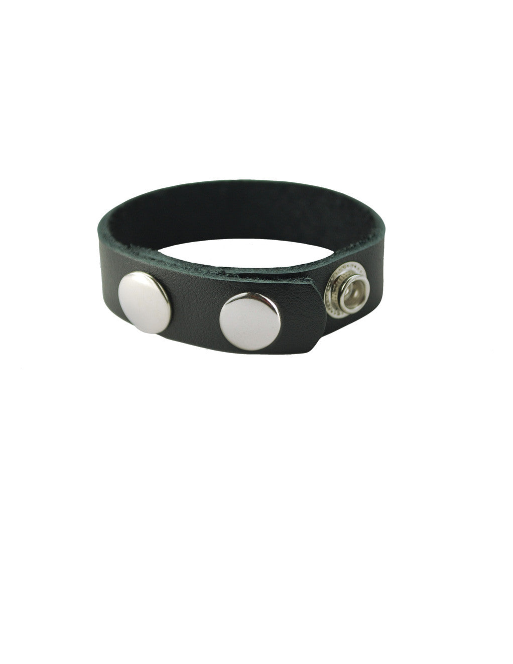 Spartacus Leather & Metal Snap Cockring