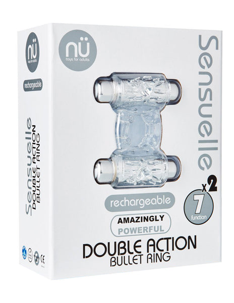 Sensuelle Double Vibrating Cock Ring Package