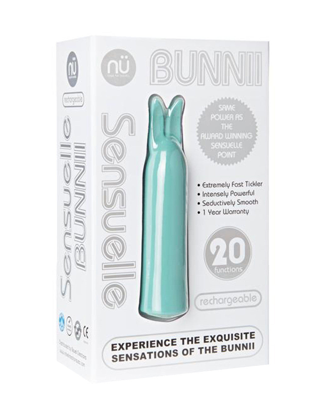 Sensuelle Bunnii 20 Function Bullet Blue Package