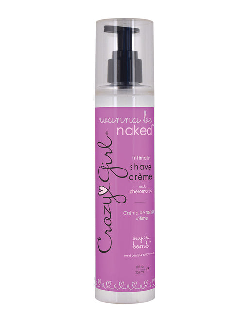 Crazy Girl Wanna Be Naked Intimate Shave Cream with Pheromones - Personal Care - Grooming