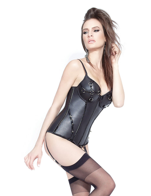Darque by Coquette Matte Wet Look Bustier