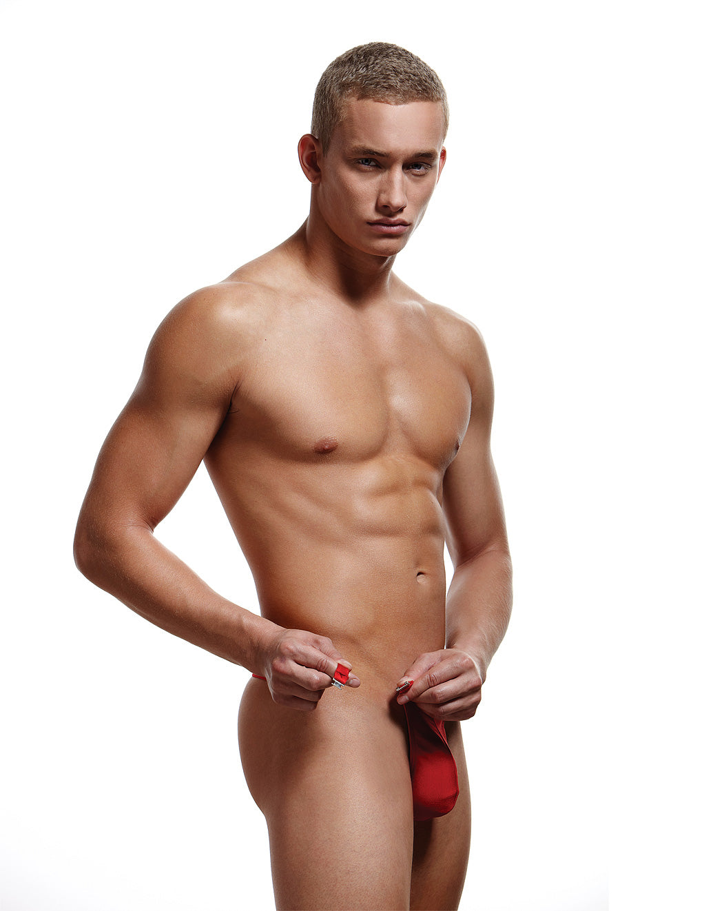 Envy Breakaway Thong Red Front