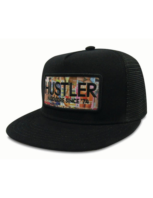 Hustler Magazine Print Black Hat side view - Featured Image