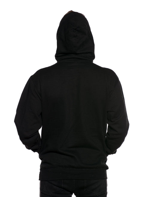 HUSTLER Classic Pull Over Hood Black Back - Featured Image