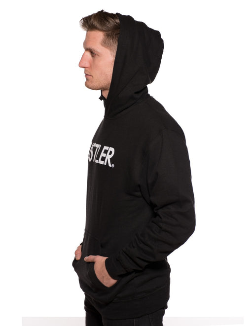 HUSTLER Classic Pull Over Hood Black Side - Featured Image