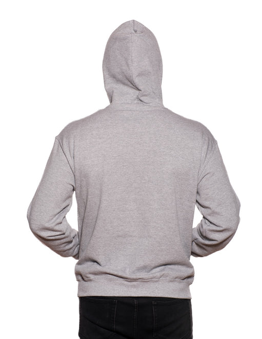 HUSTLER Classic Pull Over Hood Gray Back - Featured Image
