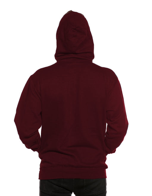 HUSTLER Classic Pull Over Hood Burgundy Back - Featured Image