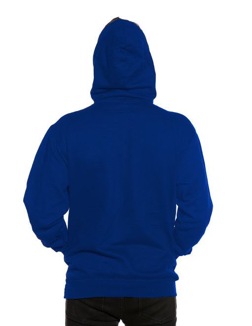 HUSTLER Classic Pull Over Hood Blue Back - Featured Image