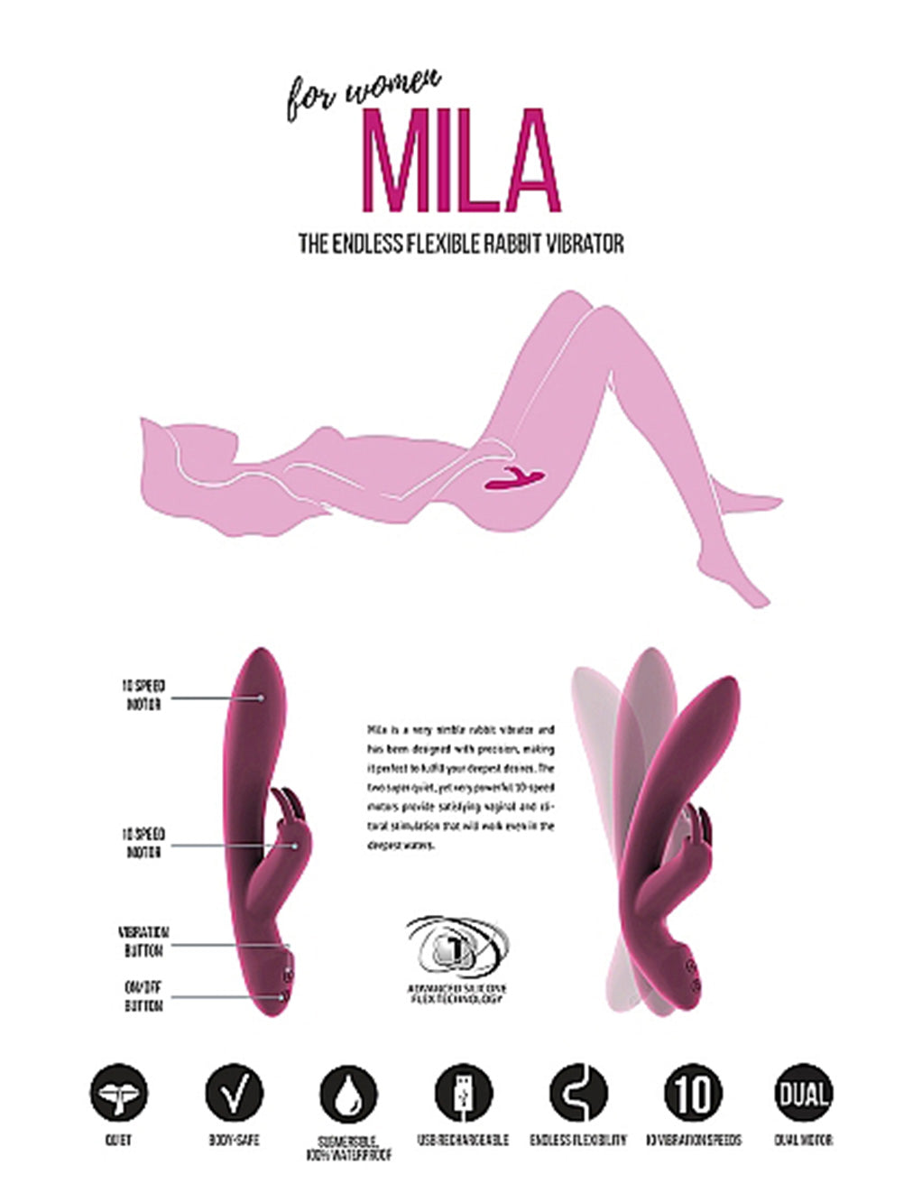 Jil Mila Rabbit Sex Toy Pink Packaging