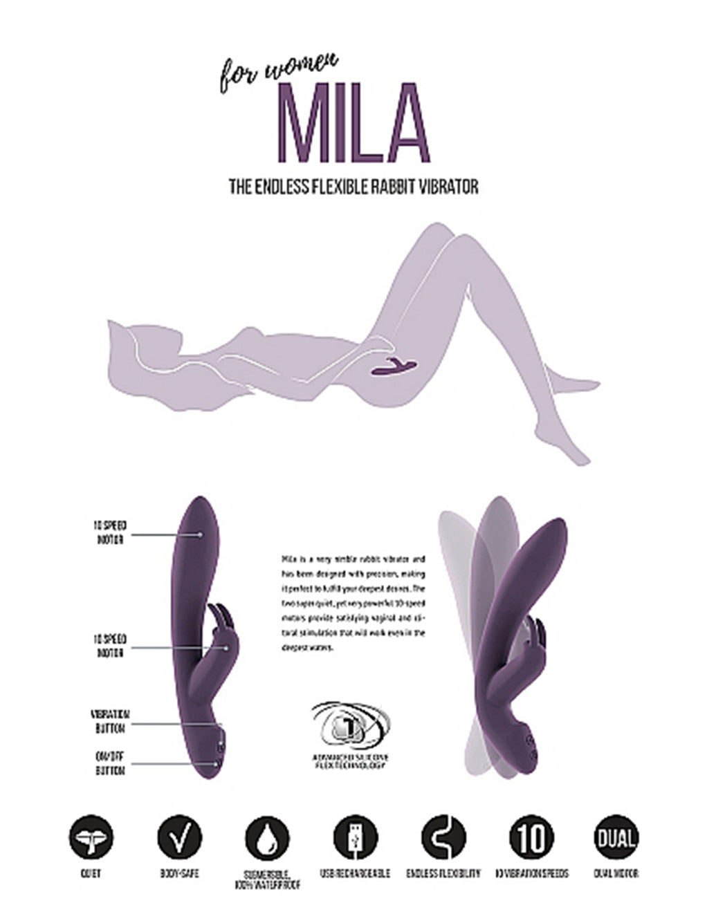 Jil Mila Rabbit Purple Masturbator Packaging
