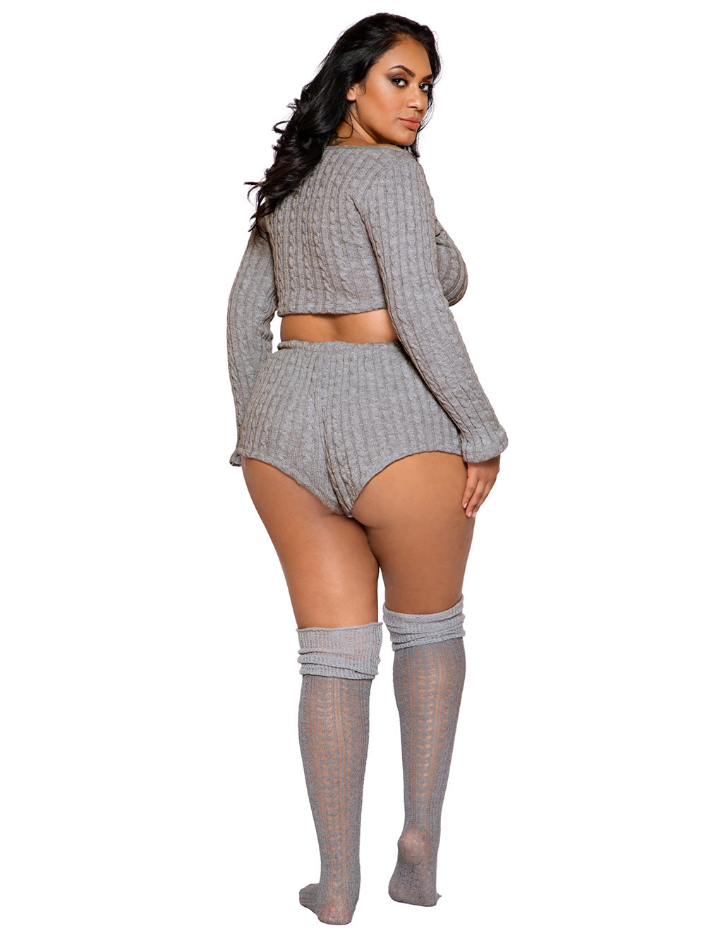 Cozy And Comfy Pajama Short Set By Roma Costume Plus Size Back