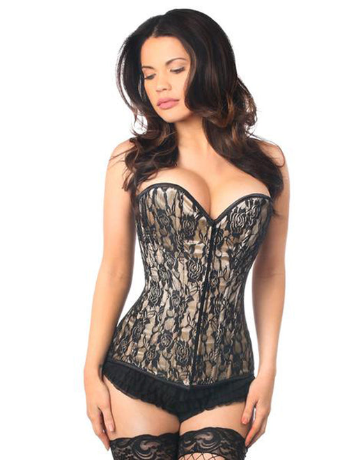 Daisy Corsets Lavish Tan Lace Front Zipper Full Bust Corset Medium