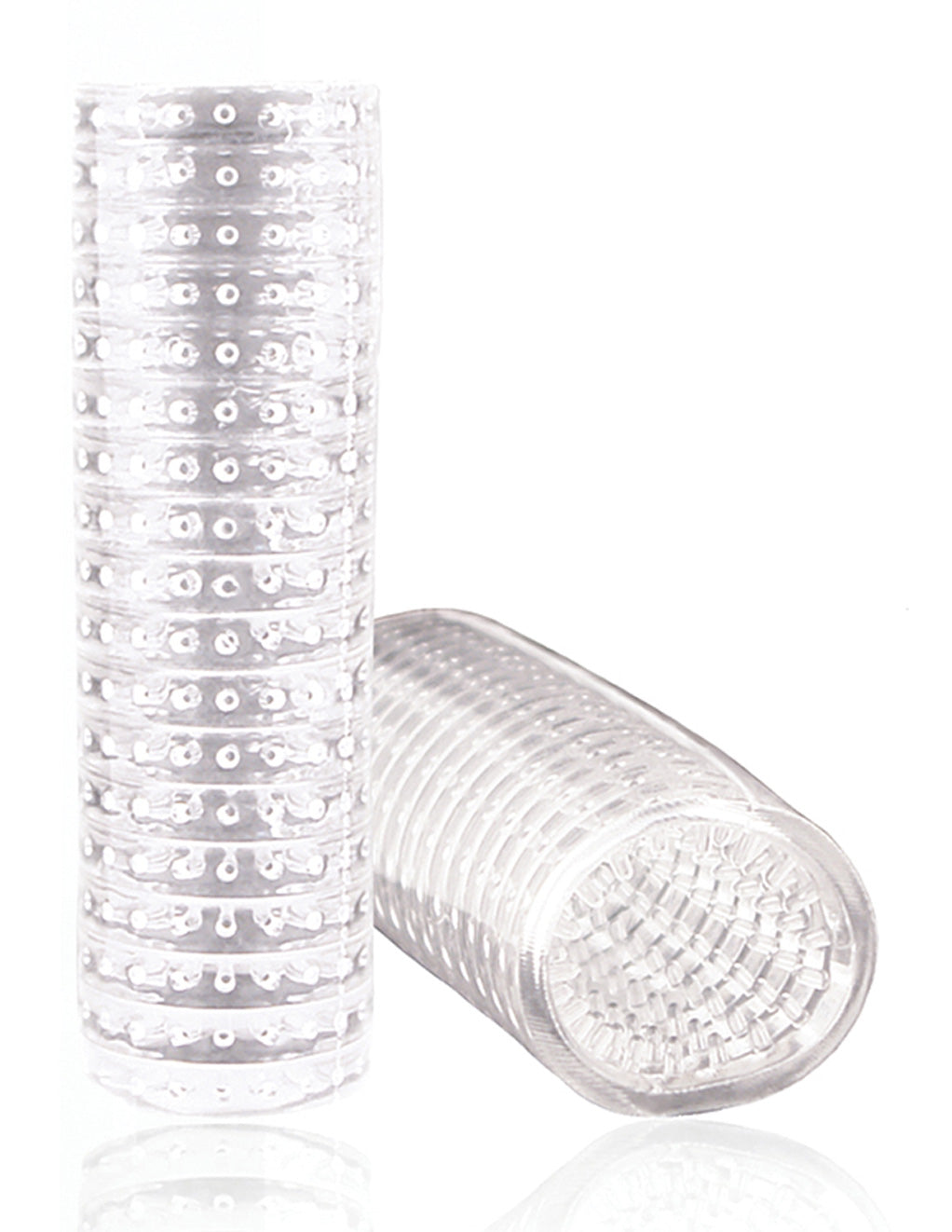 M For Men by Blush Novelties Stroke Sleeve Clear Masturbator Toy