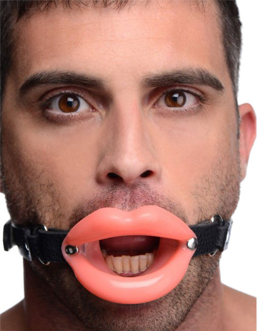 Master Series Sissy Mouth Gag Male Model Front