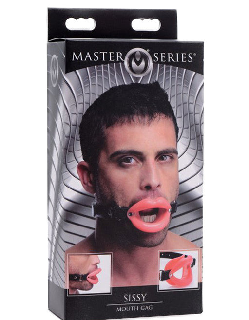 Master Series Sissy Mouth Gag Male Package