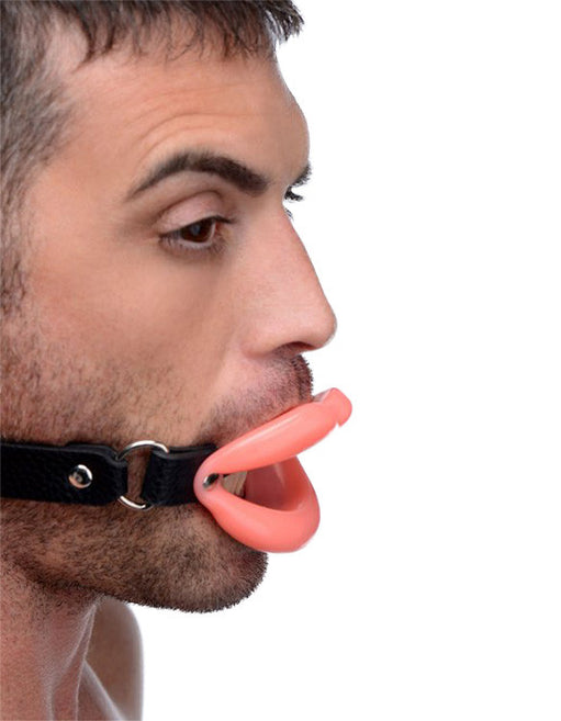 Master Series Sissy Mouth Gag Male Model Side