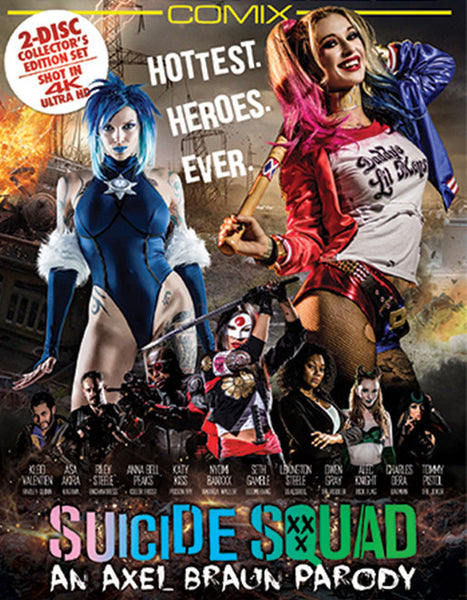 Wicked Comix Suicide Squad XXX An Axel Braun Parody (Double Disc) - Adult DVD - Mainstream