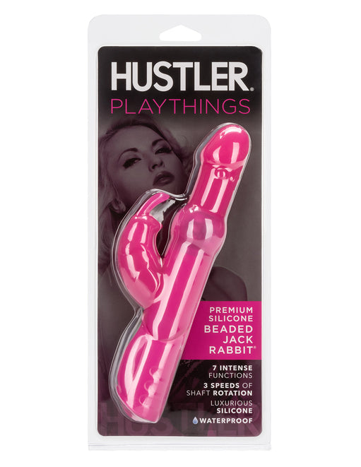 Hustler Playthings Premium Silicone Beaded Jack Rabbit - Novelties - Dual/Multi