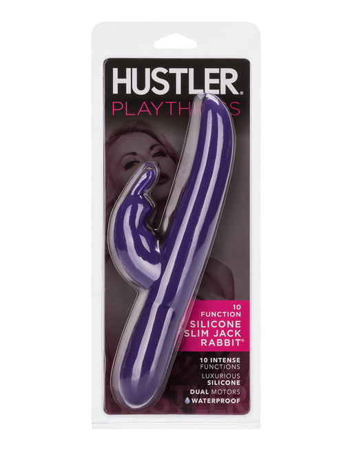 Hustler Playthings Slim Jack Rabbit Vibrator - Novelties - Dual/Multi