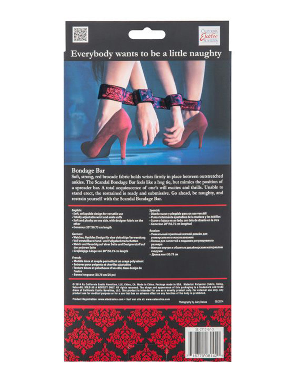 Scandal Bondage Bar Restraints - Fetish BDSM - Restraints