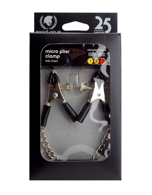 Spartacus Adjustable Link Chain Micro Plier Clamps - Fetish BDSM - Nipple play