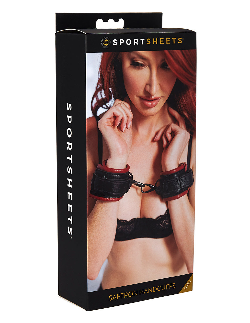 Saffron Cuffs By Sportsheets International Box Front