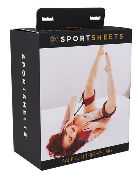 Saffron Thigh Sling By Sportsheets International Box Front