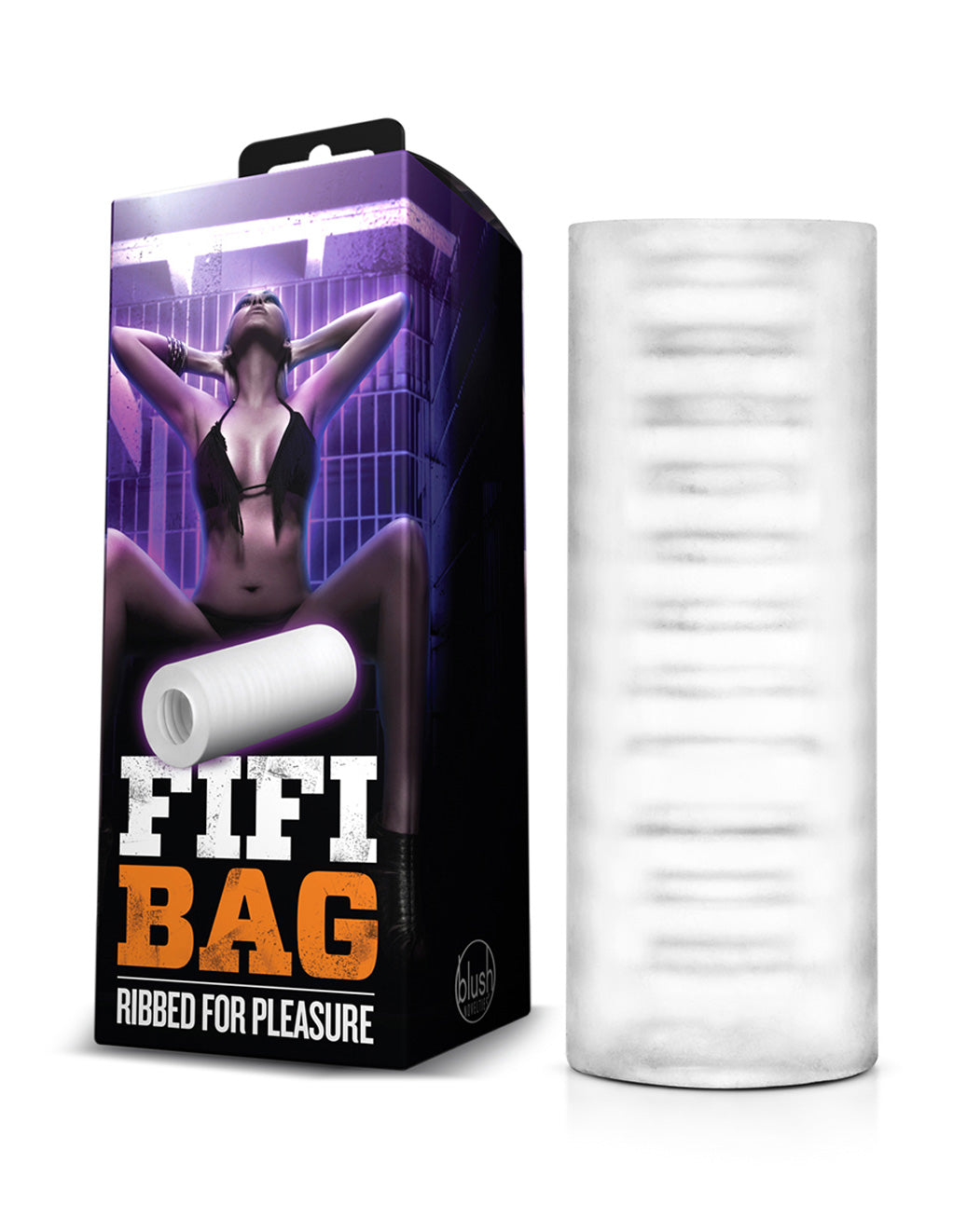X5 Men by Blush Novelties Fifi Bag Clear Masturbator With Packaging