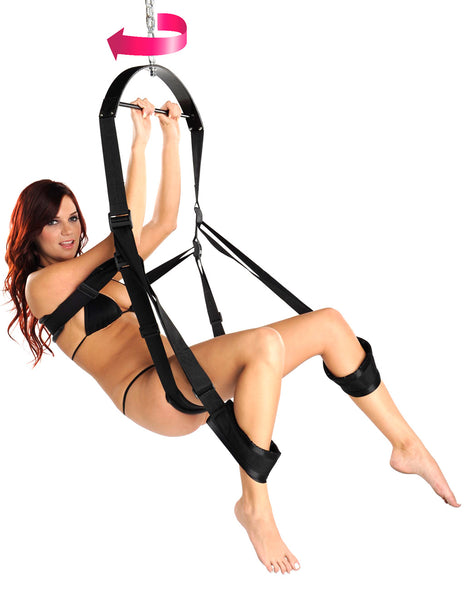 Trinity Vibes Trinity 360 Degree Spinning Sex Swing Girl Swinging