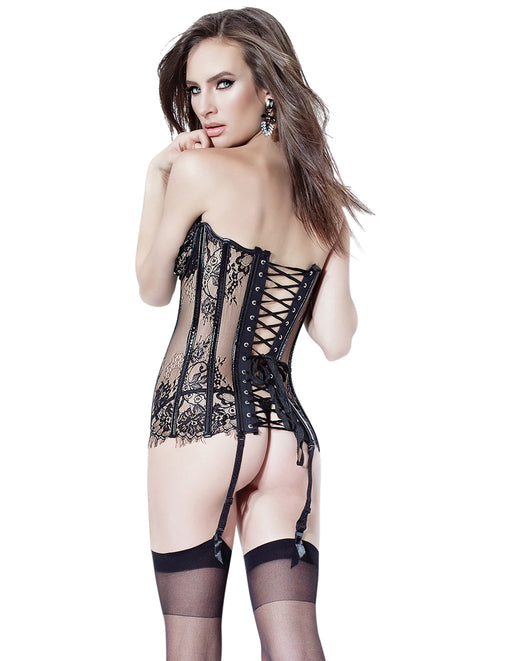 Coquette Medium Black Fray Lace Bustier  - Featured Image