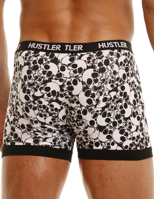 Hustler Men's Skull Print Trunk Underwear - Black and White Lingerie - Featured Image