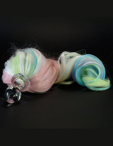 Glass Ponytail Plug Pastel