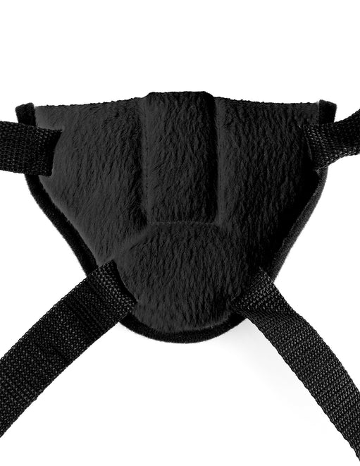 Fetish Fantasy Vibrating Plush Harness back close up - Featured Image