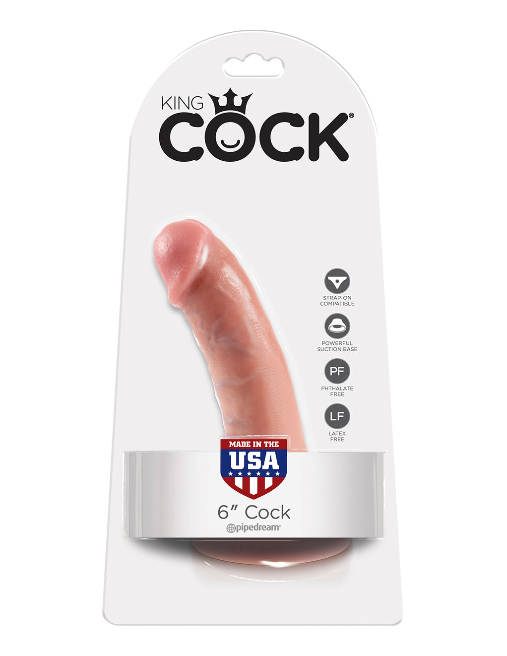 Pipedream King Cock 6 Inch Flesh