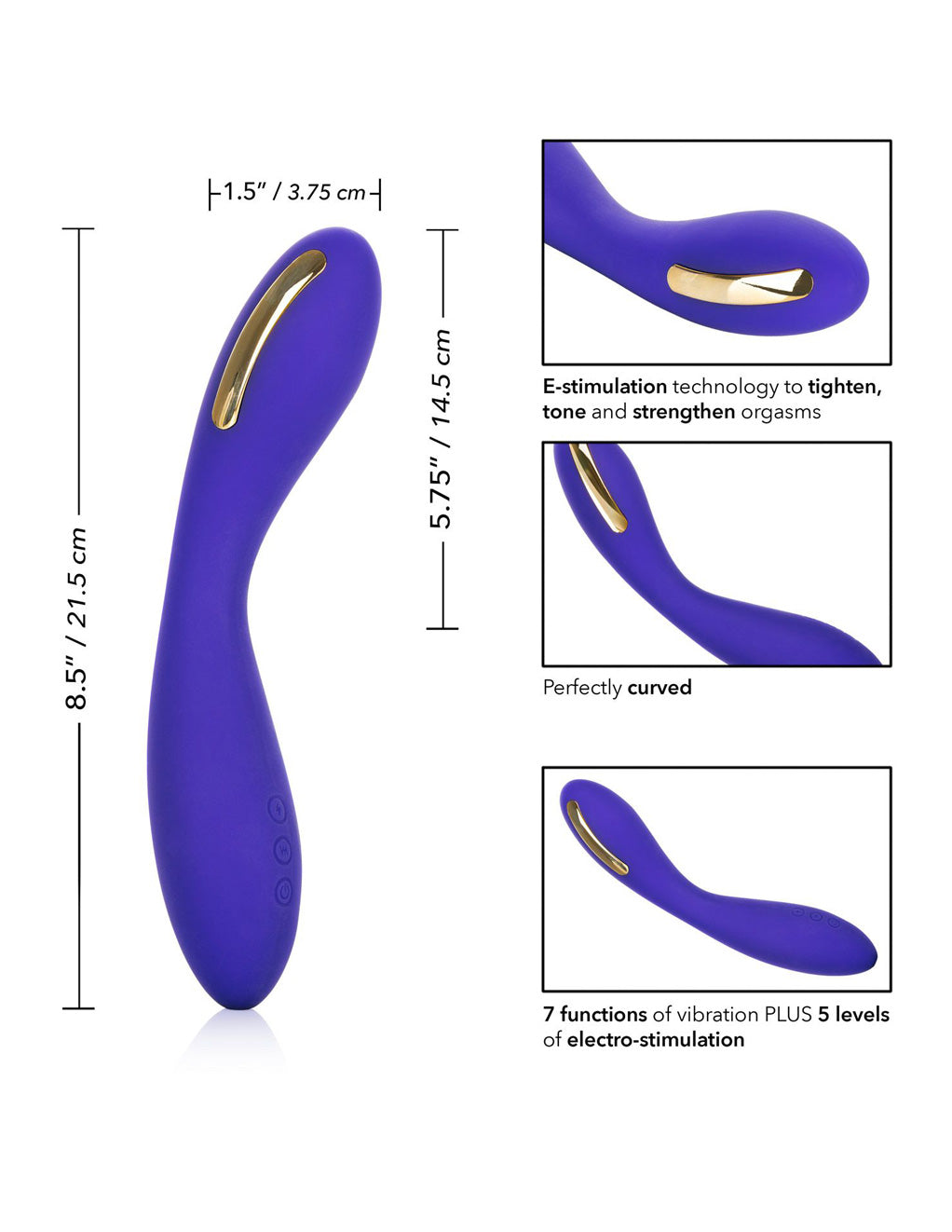 Impulse Intimate E Stim Wand by California Exotics Measurements
