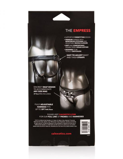 Cal Exotics Her Royal Harness The Empress package back