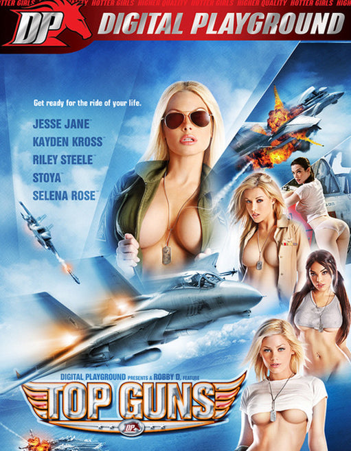 Digital Playground Top Guns (3 Disc) 2 DVD + 1 Blu-Ray Combo Pack - Adult DVD - Couples - Featured Image