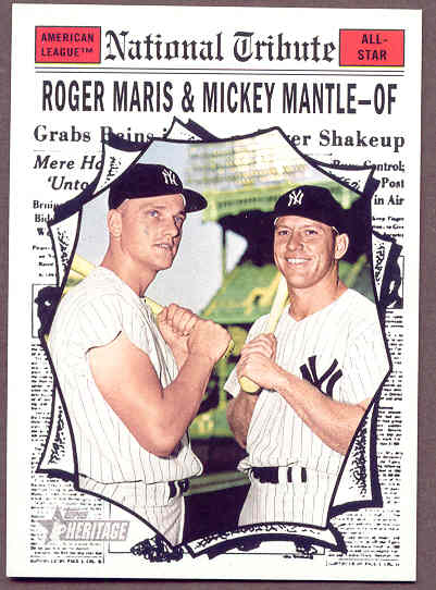 2011 Topps National Convention 1961 Retro Mickey Mantle Roger Maris Card