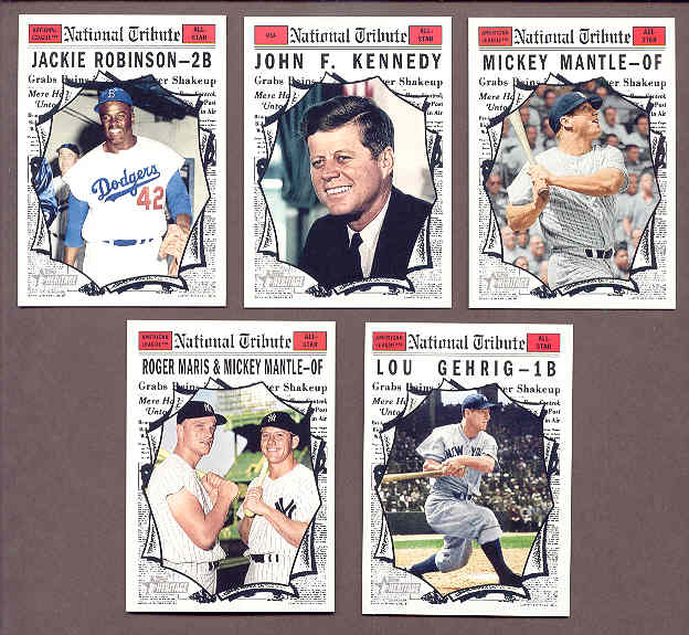 2011 Topps National Convention 1961 Retro Set Mickey Mantle John Kennedy