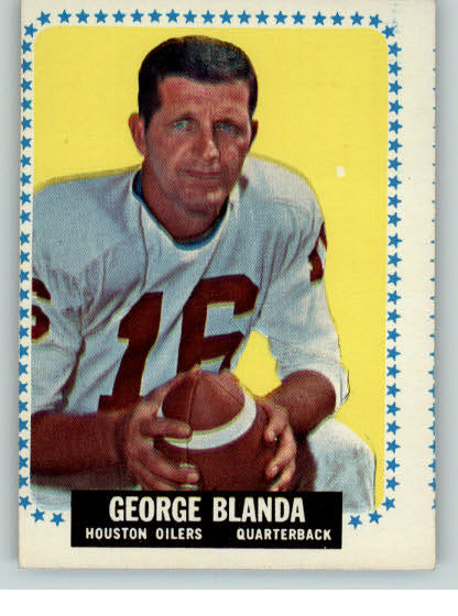 1964 Topps Football #068 George Blanda Oilers VG 319444