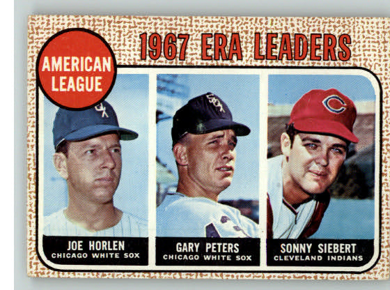 1968 Topps Baseball #008 A.L. ERA Leaders VG-EX 325114