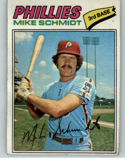 1977 Topps Baseball #140 Mike Schmidt Phillies EX 334868