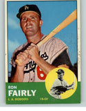 1963 Topps Baseball #105 Ron Fairly Dodgers EX-MT 345821