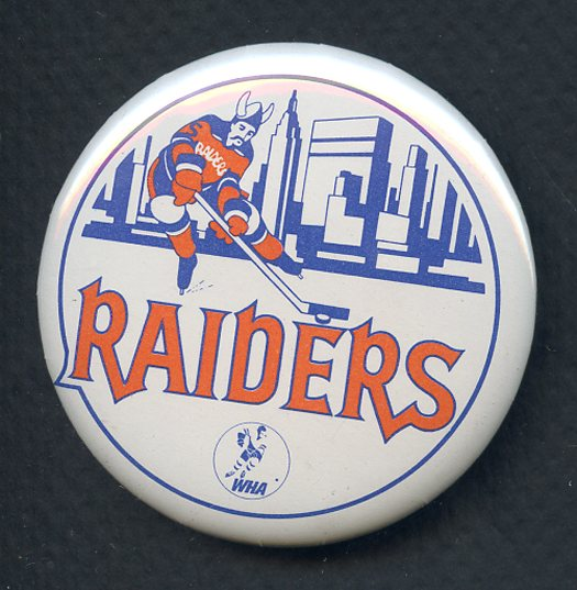 1973-74 WHA Hockey Buttons New York Raiders EX-MT 350132