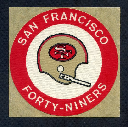 1970-71 Chiquita NFL Logo Stickers San Francisco 49ers 353490