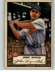 1952 Topps Baseball #013 Johnny Wyrostek Reds Black VG 359560