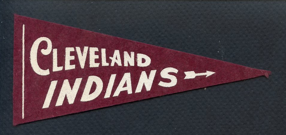 1950's Mini Team Pennants Cleveland Indians EX-MT 363600