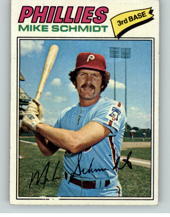 1977 Topps Baseball #140 Mike Schmidt Phillies EX 375222